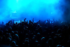 Foule de concert photographie stock
