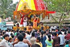 Foule de l'Inde pendant un festival religieux image libre de droits