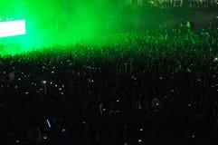 Foule de partie à un concert Photos libres de droits