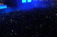 Foule de partie à un concert Photos stock