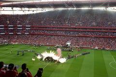Foule de Party_Soccer de champion de Benfica Stadium_Football Photographie stock libre de droits