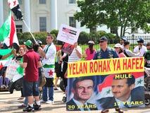 Foule de protestation à la Maison Blanche  Images stock