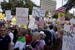 Foule de protestation Images libres de droits