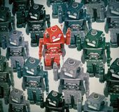 Foule de robots Photo libre de droits