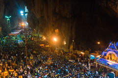 Foule de Thaipusam Photo libre de droits