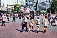 Foule de Tokyo Images stock