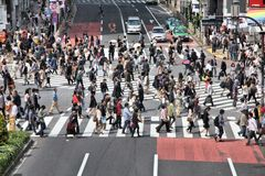Foule de Tokyo Photo libre de droits