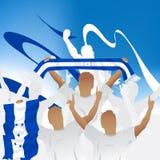 Foule de ventilateur de football Images libres de droits