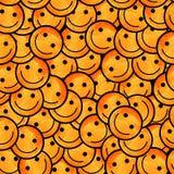 Foule des émoticônes de sourire Sourit le modèle d'icône Photo stock