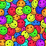 Foule des émoticônes de sourire Sourit le modèle d'icône Image stock