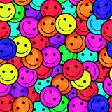 Foule des émoticônes de sourire Sourit le modèle d'icône Photos stock