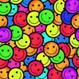 Foule des émoticônes de sourire Sourit le modèle d'icône Photos libres de droits