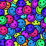 Foule des émoticônes de sourire Sourit le modèle d'icône Images libres de droits