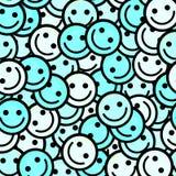 Foule des émoticônes de sourire Sourit le modèle d'icône Photographie stock libre de droits