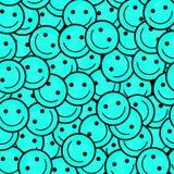Foule des émoticônes de sourire Sourit le modèle d'icône Image libre de droits