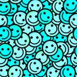 Foule des émoticônes de sourire Sourit le modèle d'icône Images stock
