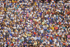 Foule des personnes multiculturelles à la Rose-Cuvette Photo libre de droits