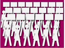 Foule des personnes soutenant les plaquettes vides illustration libre de droits