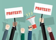 Foule des protestataires de personnes Photo stock