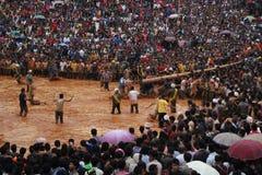 Foule du festival de Bedeinkhlam Image libre de droits