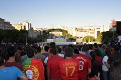 Foule du football, Lisbonne, Portugal - finale européenne 2016 de championnat de l'UEFA Photographie stock libre de droits