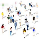 Foule ethnique de variation d'unité d'appartenance ethnique de diversité diverse Image stock