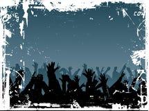 Foule grunge Images libres de droits