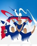foule Haïti illustration stock