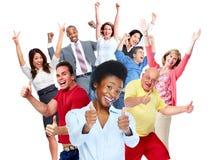 Foule heureuse de personnes photo stock