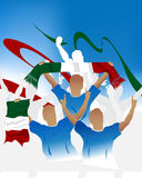 foule Italie illustration stock