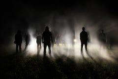 Foule la nuit Photographie stock libre de droits