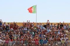 Foule MUNDIALITO - équipe PORTUGAISE Carcavelos 2017 Portugal Photo libre de droits