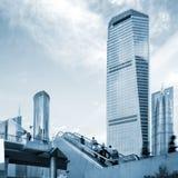 Foule piétonnière de point de raccordement de Changhaï photos libres de droits