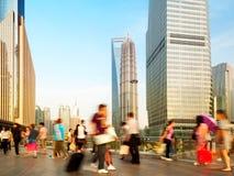 Foule piétonnière de point de raccordement de Changhaï photo libre de droits