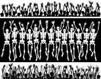 Foule squelettique Photographie stock