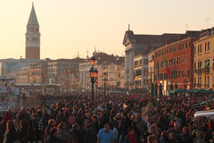 Foule à Venise Image libre de droits