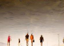 Foules de plage photo stock