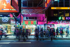 Foules des personnes en Hong Kong image libre de droits