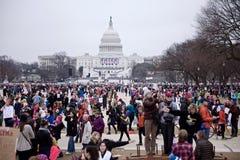 FOULES : FEMMES ' S MARS SUR WASHINGTON Photo libre de droits