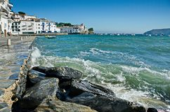 Foumous white of the Costa Brava Cadaques village Royalty Free Stock Images