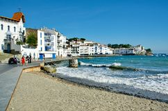 Foumous white of the Costa Brava Cadaques village Royalty Free Stock Photography