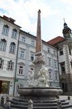 Founatin vodnjak Robbov в Любляне Словении Стоковые Фото