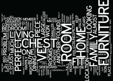 Found The Perfect Home But Furniture Won T Fit Word Cloud Concept. Found The Perfect Home But Furniture Won T Fit Text Background Word Cloud Concept Royalty Free Stock Photography