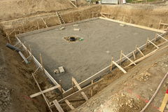 Foundation base building site Stock Photography