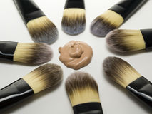 Foundation brushes Royalty Free Stock Photos