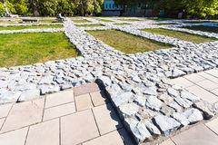 Foundation of The Church of the Tithes in Kiev Stock Photos