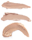 Foundation. Close up of a Scratch beige foundation royalty free stock image