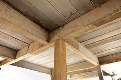 Foundation construction for house building Royalty Free Stock Photography