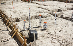 Foundation for Construction Site Royalty Free Stock Photography