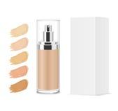 Foundation cosmetic glass tube. Stock Photo